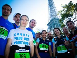 Paris-Versailles 2011 - pieds nus ! Photographe - Maya Sport