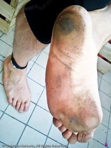 Barefoot Semi-marathon de Boulogne-Billancourt 2011. 1:40:05, avec le sourire.