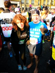 Christian Harberts Marathon de Paris  2013 Pieds Nus