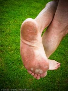 10 mai 2013 Christian Harberts a participe pieds nus au Marathon de Senart 2013, sans incident.