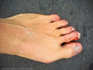 Semi-marathon Boulogne-Billancourt 2013 pieds nus Christian Harb