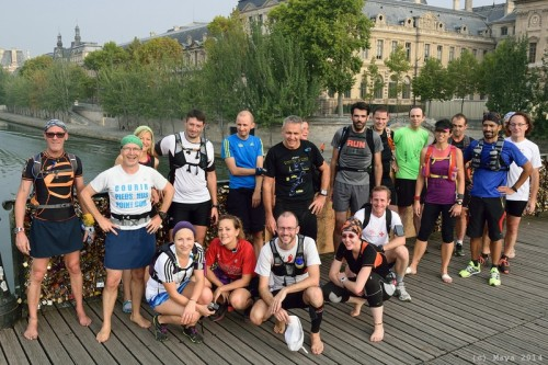 Photo de groupe, Pont des Arts - Maya Sport - Photo