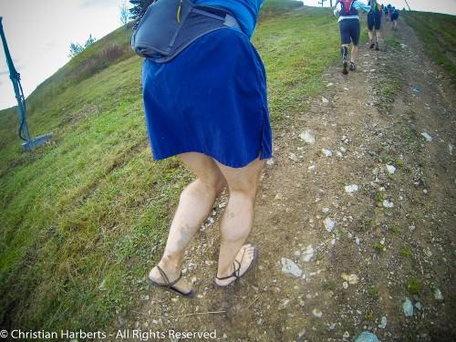 EcoTrail du Massif des Brasses 2014 - Juste avant la Pointe des Brasses