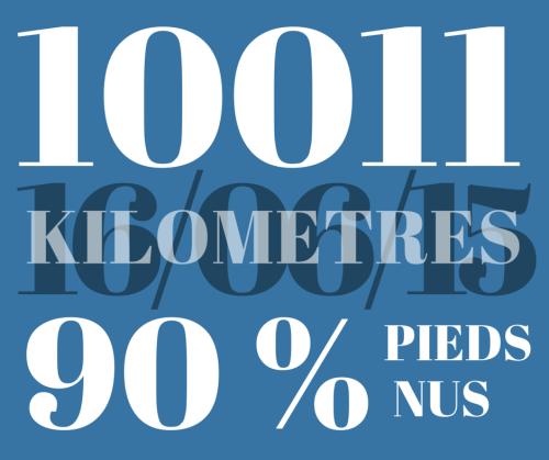 10000 kilometres pieds nus
