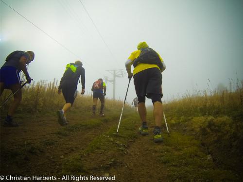Trail du Massif des Brasses 2015 - Dernière partie raide avant le sommet.