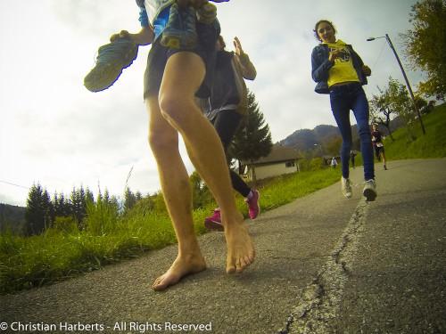 Trail du Massif des Brasses 2015 - barefooteur malgré lui - ampoules !