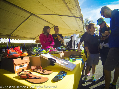 Trail du Massif des Brasses 2015 - le stand 5doigts.fr