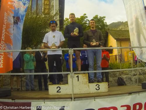 Trail du Massif des Brasses 2015 - Podium du 30km Barefooteurs