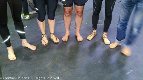 Charleroi 15km pieds nus - 24 avril 2016 avec des membres de la BRS France, Belgique, et le RIB